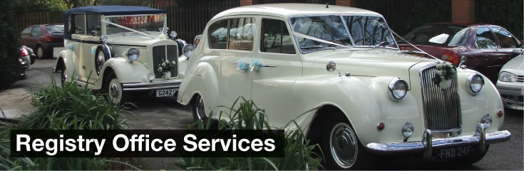 Registry Office Services Wedding Car Hire