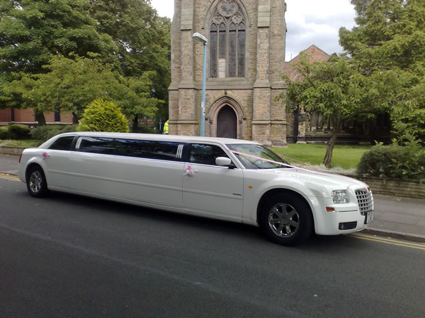 White Chrysler Limo Hire