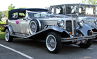 Silver Beauford Wedding Car