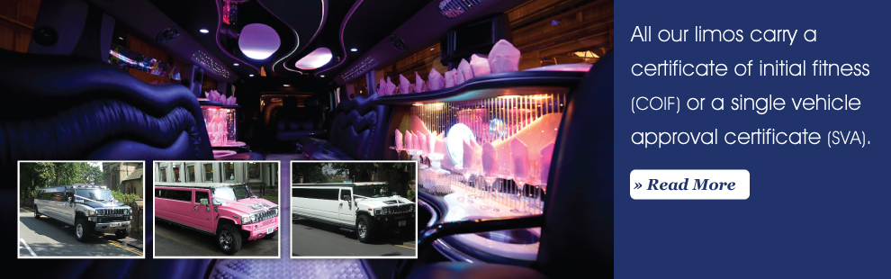 All our limos carry a certificate of initial fitness
