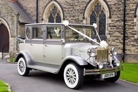 Silver Regal Landaulette Wedding Car