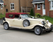 Burgundy Beauford wedding car for hire