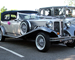 Silver Beauford wedding car for hire