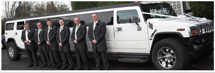 white hummer limo for weddings