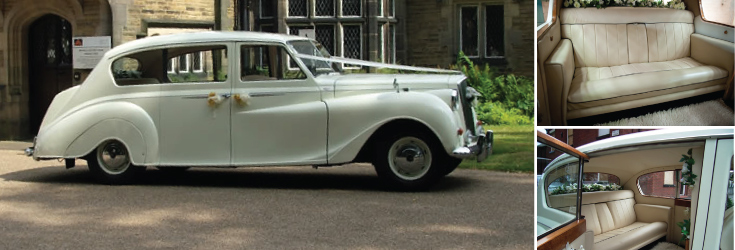 perfect wedding car for a retro wedding