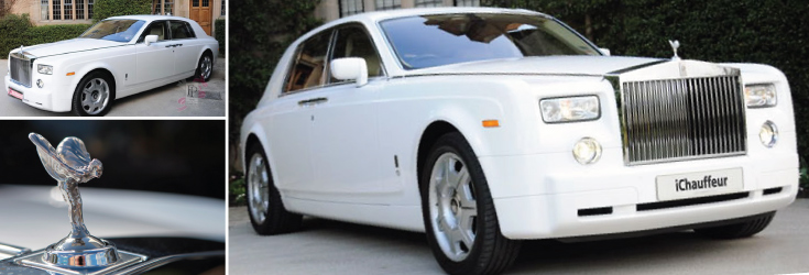 rolls royce white phantom