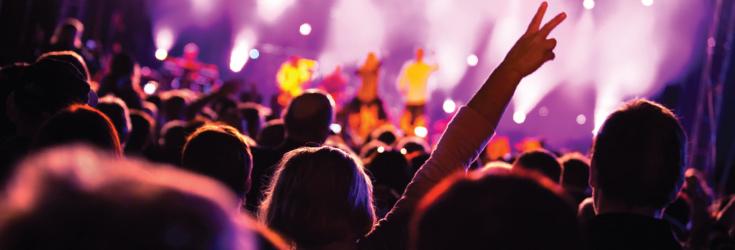 rock up to a concert