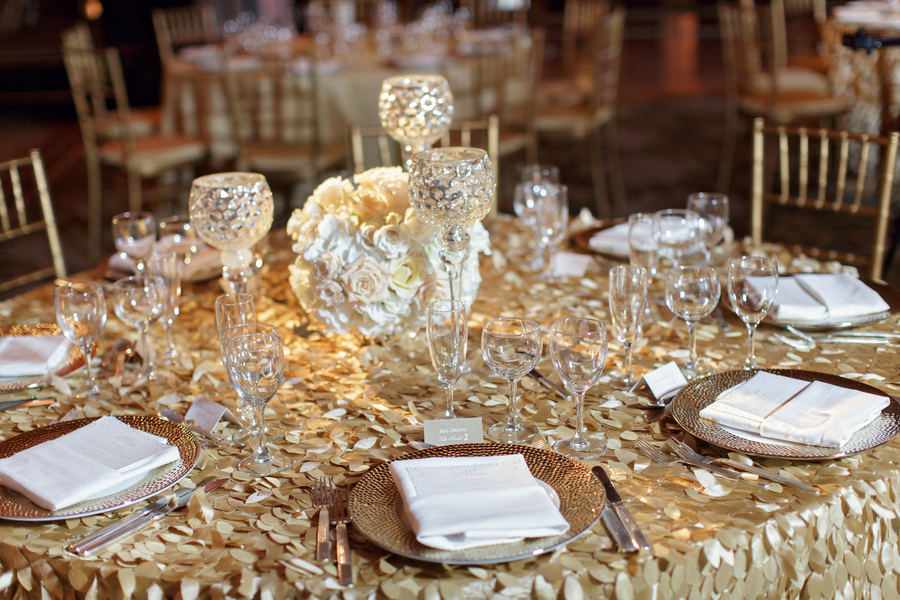 modern wedding metallic