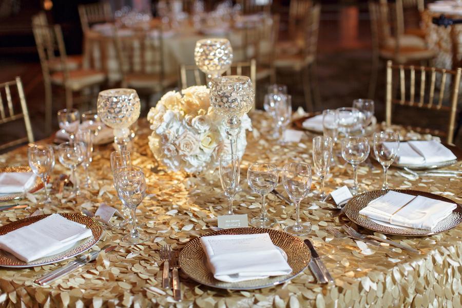 modern wedding metallic