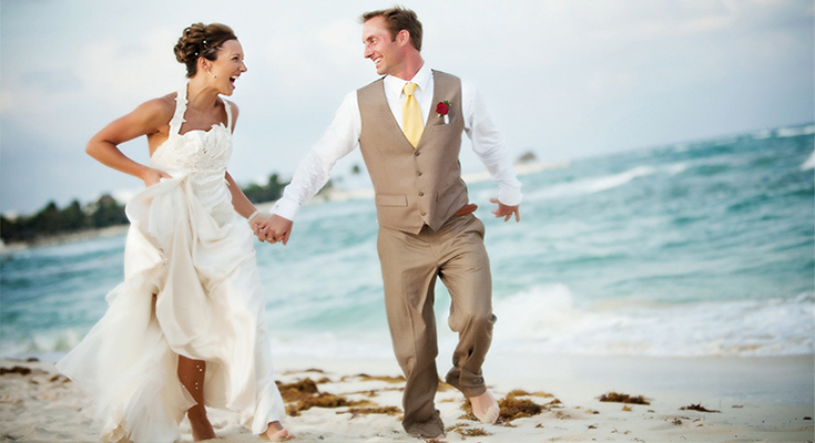 limo blog beach themed wedding gown