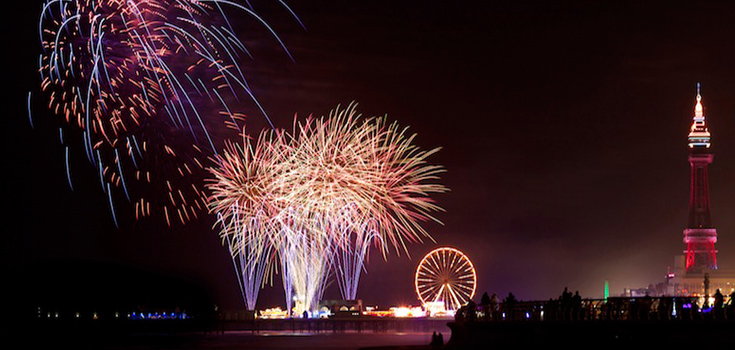 limo blog blackpool events fireworks