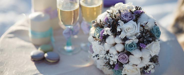 winter wedding ideas table