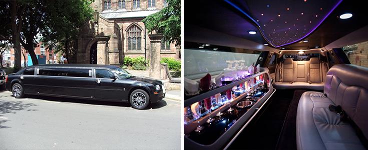 Black Chrysler limo interior
