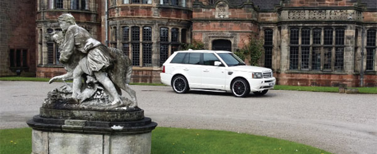 White Range Rover Sport Overfinch wedding car