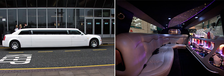 Step inside our Chrysler limousines