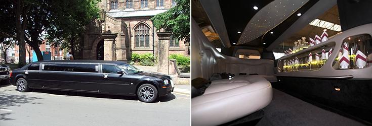 Black Chrysler limo