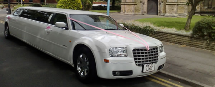 white chrysler limo