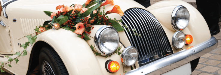 vintage wedding car feature